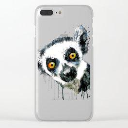 Lemur Head Clear iPhone Case
