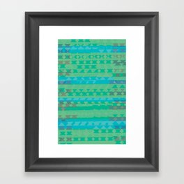Summertime Green Framed Art Print