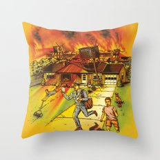 Bad Reception Throw Pillow