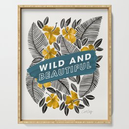 Wild & Beautiful – Yellow Palette Serving Tray