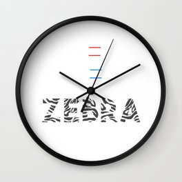 Roses Are Red Violets Are Blue I Hate Rhyming Zebra Funny Animal Lovers Zebra Safari Gift Wall Clock