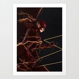 The Flash triptych FLASH Art Print