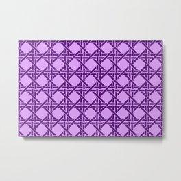 Rectangles pattern design violet - violet light Metal Print