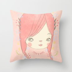 소녀 THIS GIRL Throw Pillow