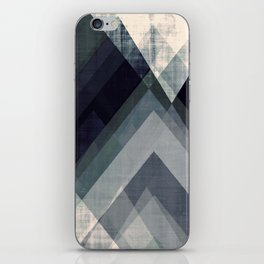 mountain art, geometric art, contemporary art print, modern art print, colorful wall art, midcentury iPhone Skin