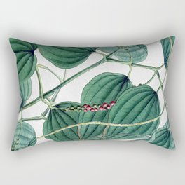 Green leaves I Rectangular Pillow