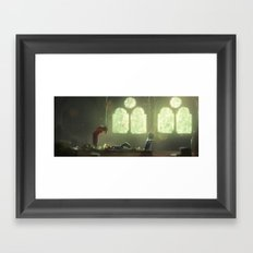 Flowers Blooming in the Church Framed Art Print