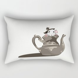 It's always tea time. Rectangular Pillow