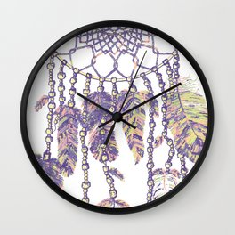 Dream catcher mandala in pantone floral fantasies Wall Clock