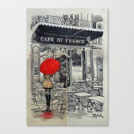 CAFE FRANCE Canvas Print