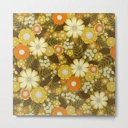 1970s Retro/Vintage Floral Pattern Metal Print