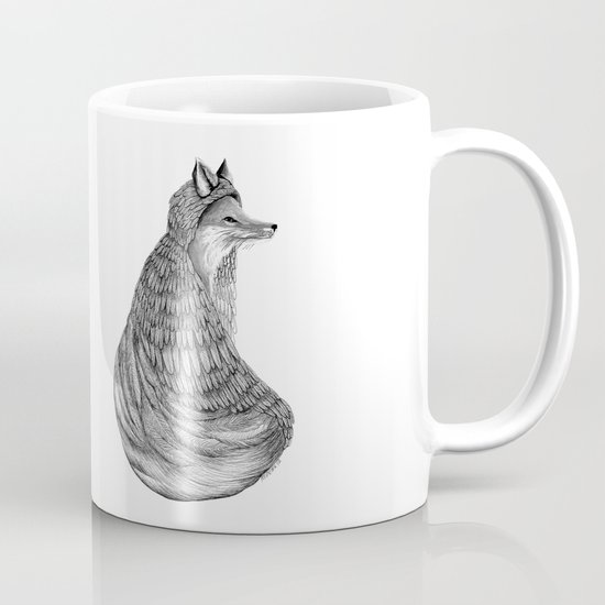 Fox- Feathered. Mug