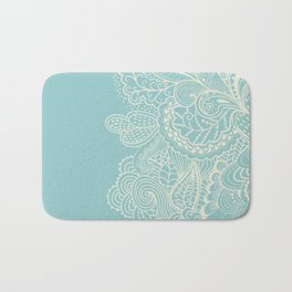 Abstract nature organic lines illustration Bath Mat