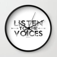 Listen To The Voices Wall Clock