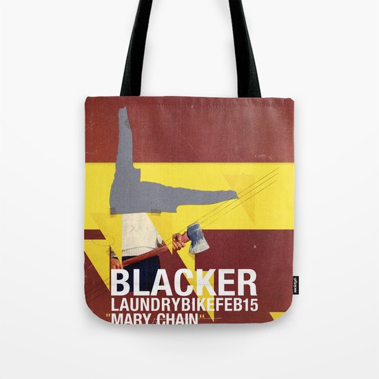 Mary Chain & Blacker band poster Tote Bag