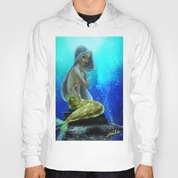vogue Hoodies featuring Underwater Vogue by Katie Halliday