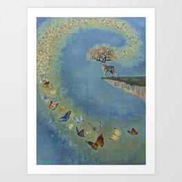 Kaleidoscope of Butterflies Art Print