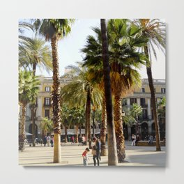Plaza Real Metal Print