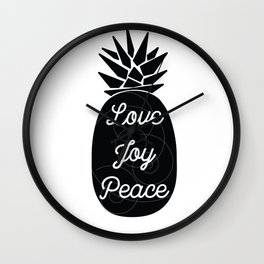 081 Love Joy Peace Wall Clock
