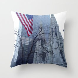St. Patrick's Cathedral in New York Throw Pillow
