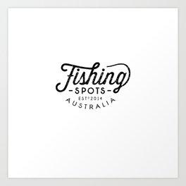 Fishing Spots HQ Art Print