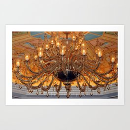 Chandelier Sparkle Art Print