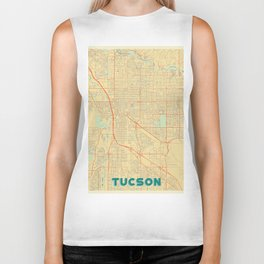 Tucson Map Retro Biker Tank