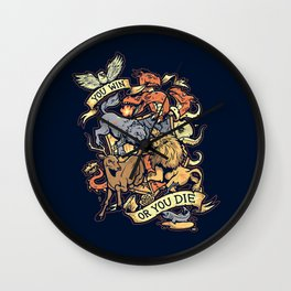 Win or Die Wall Clock