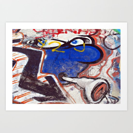 Skatepark Smurf  Art Print
