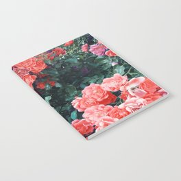 Psychedelic summer florals Notebook