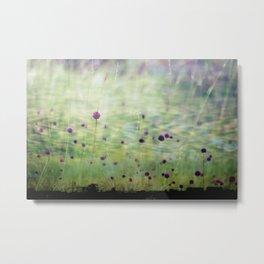 Flowerbud skies Metal Print