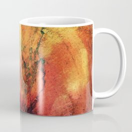A leaf In The Wood Aflame Abstract Coffee Mug