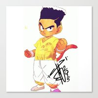 dbz Canvas Prints featuring high top dbz by mike kaution
