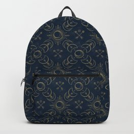 Bohemian Solar Eclipse- Gold Backpack
