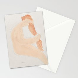 Auguste Rodin Nude Figure Lithograph #2 Stationery Cards