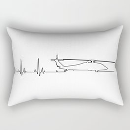 UH-60 Helicopter Heartbeat Pulse Rectangular Pillow