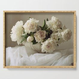 Garden peonies for Justine - wedding bouquet photography Serving Tray