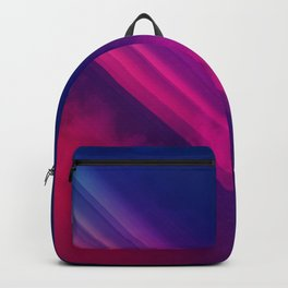 Vibrant Colorful Rays between Clouds 18 Backpack