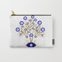 All Seeing Evil Eye Tree Carry-All Pouch