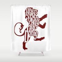 gryffindor Shower Curtains featuring Gryffindor Pride by Gabriela Michelle