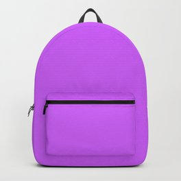 Solid Bright Heliotrope Purple Color Backpack