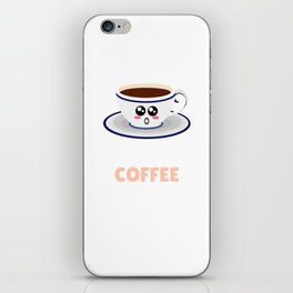 A Yawn Is A Silent Scream For Coffee Funny Coffee Pun iPhone Skin