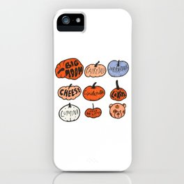 Types of Pumpkins iPhone Case