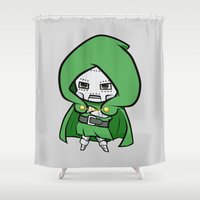 doom Shower Curtains featuring Dr. Doom  by nuyanata