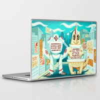 kaiju Laptop & iPad Skins featuring Rescue Kaiju by Good Afterwoon