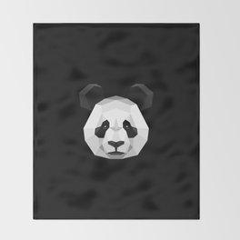 Geometric Panda Throw Blanket