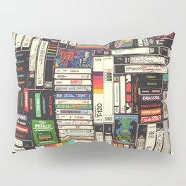 Cassettes, VHS & Games Pillow Sham