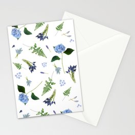 Blooming Blue Lg Stationery Cards