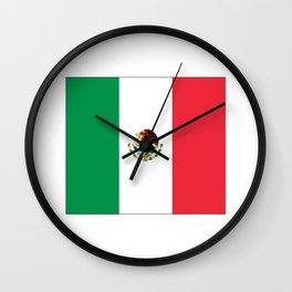 mexican's flag Wall Clock