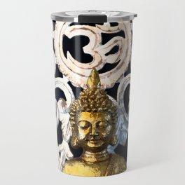 Gold Buddha Om Travel Mug